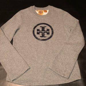TORY BURCH Iconic Logo Crew Fleece Sweatshirt